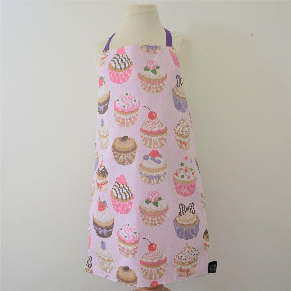 Tablier Imperméable Réversible cupcakes 3/8 ans--9995446496733