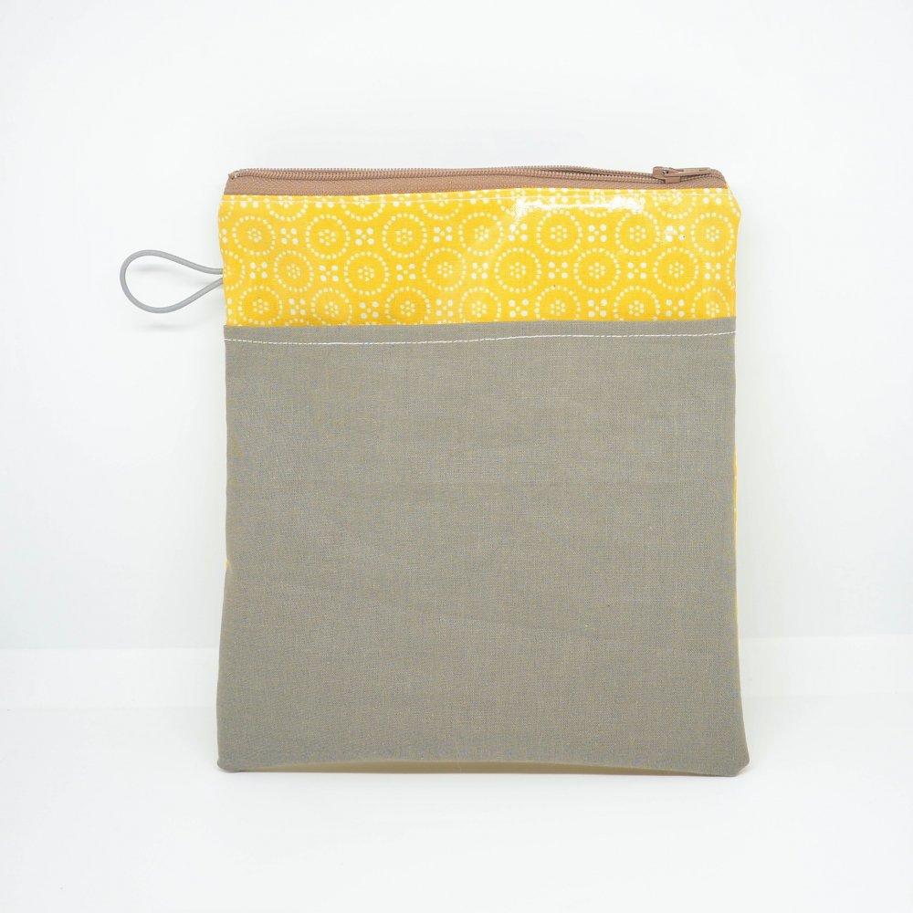 Tousse pour transporter ses lingettes propres et à nettoyer, enduit moutarde--9995747582302
