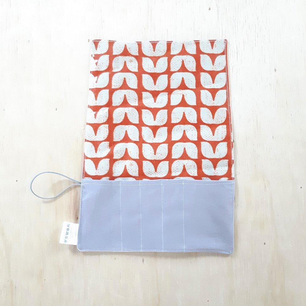 Trousse imperméable pour transporter les couverts vintage--2226203979815