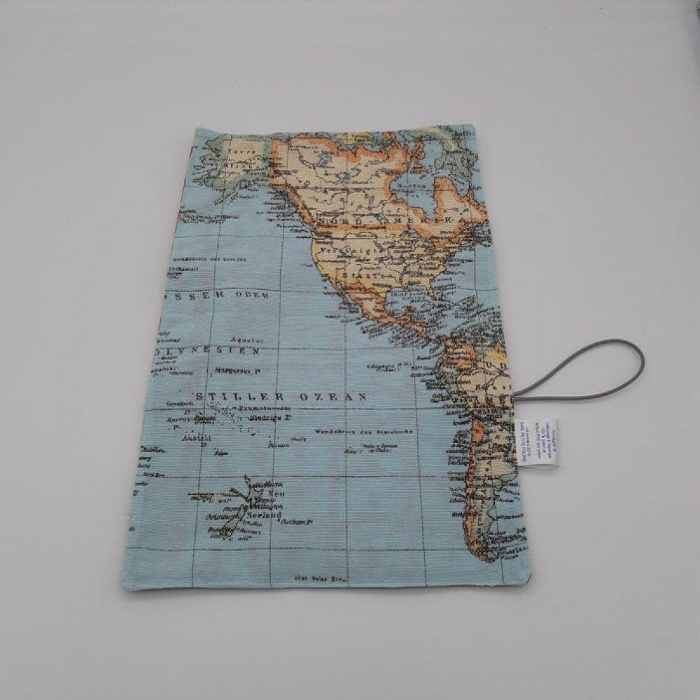 Trousse imperméable pour transporter les couverts mappemonde/vintage--9995753144280