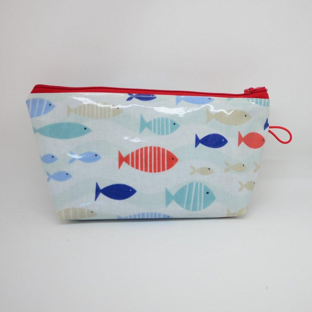 Trousse maxi imperméable, motif poissons--9995655873479
