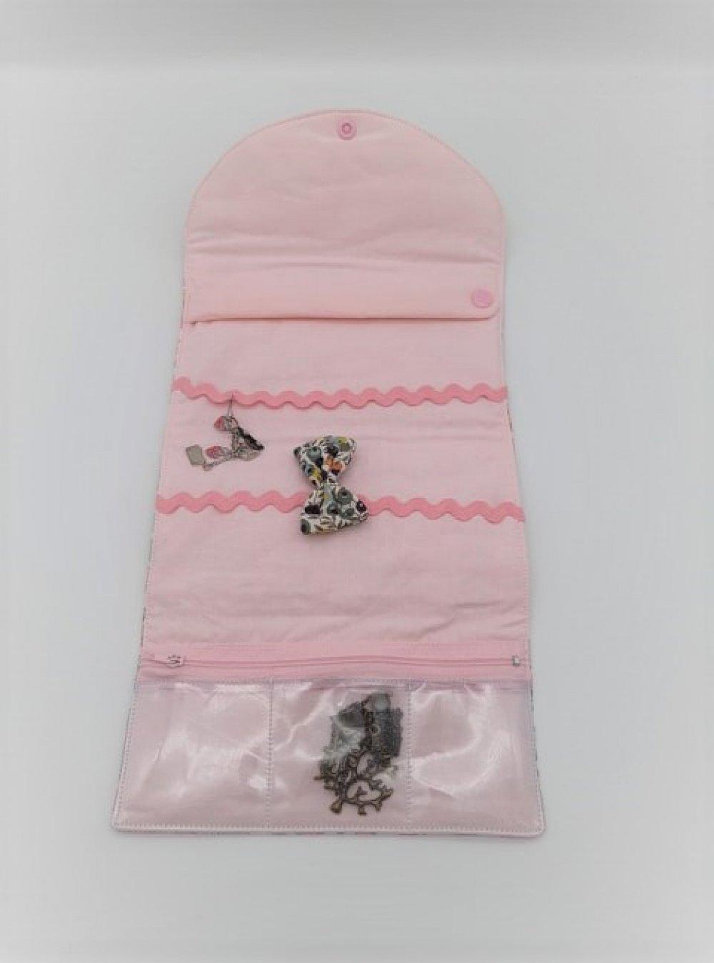 Trousse nomade rangement pour bijoux Liberty Betsy rose--9995753128228