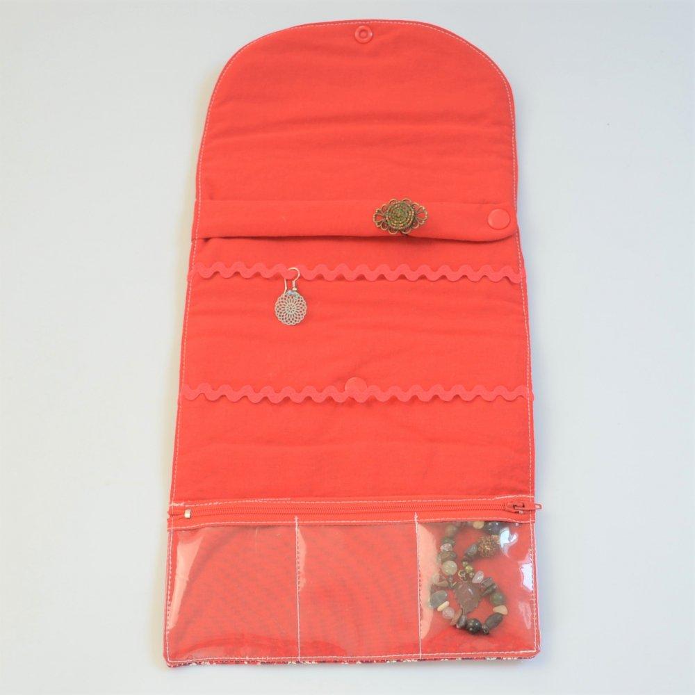 Trousse nomade rangement pour bijoux Liberty Mitsi rouge--9995971560039