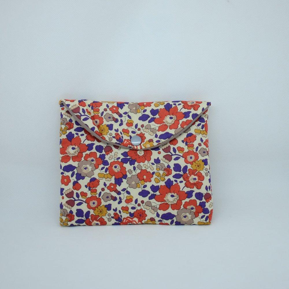 Trousse plate doublée Liberty Betsy automne--9995655543471