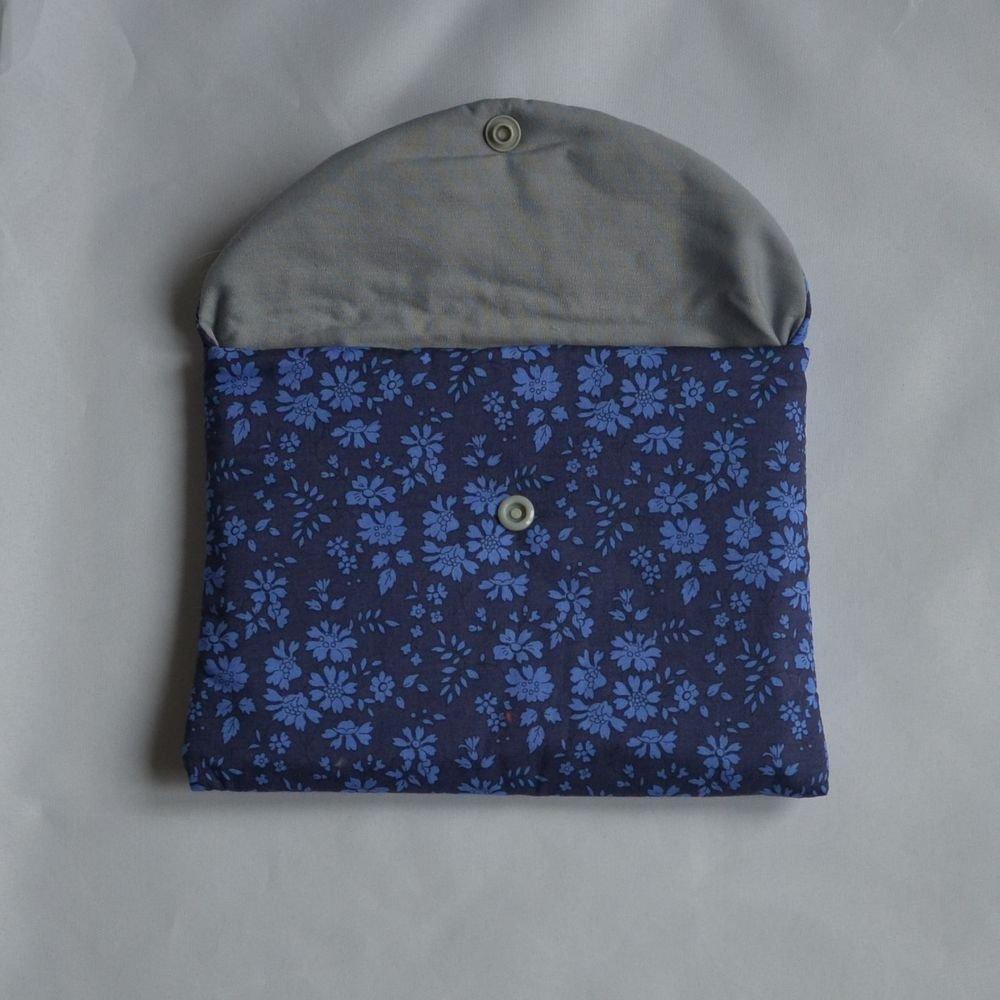 Trousse plate doublée Liberty Capel bleu nuit--9995403839290
