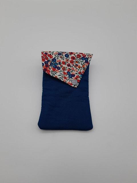 Etui portable Liberty Wiltshire rouge et bleu--9995753092499