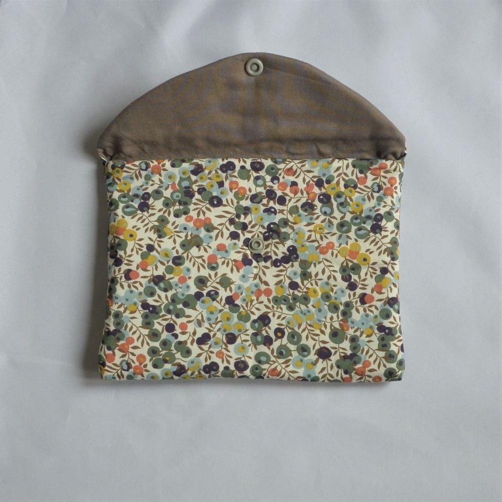 Trousse plate doublée Liberty wiltshire automne--9995403829741