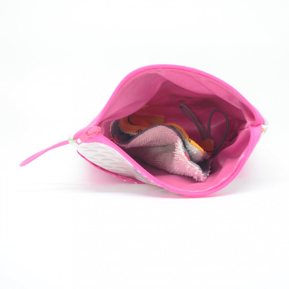 Trousse pour transporter ses lingettes propres et usagées, enduit chouette--9995567099684