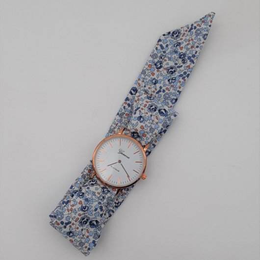 Montre à nouer bracelet Liberty Eloise bleu