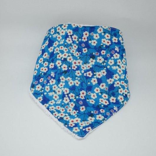 Bandana Bavette Liberty Mitsi Deep blue et éponge blanche