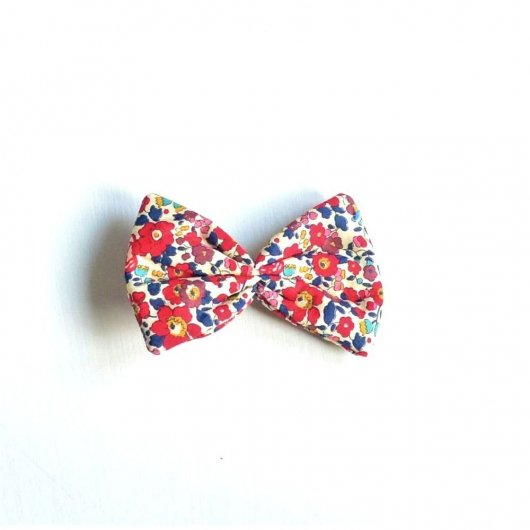Barrette Liberty Betsy ann rouge grande taille