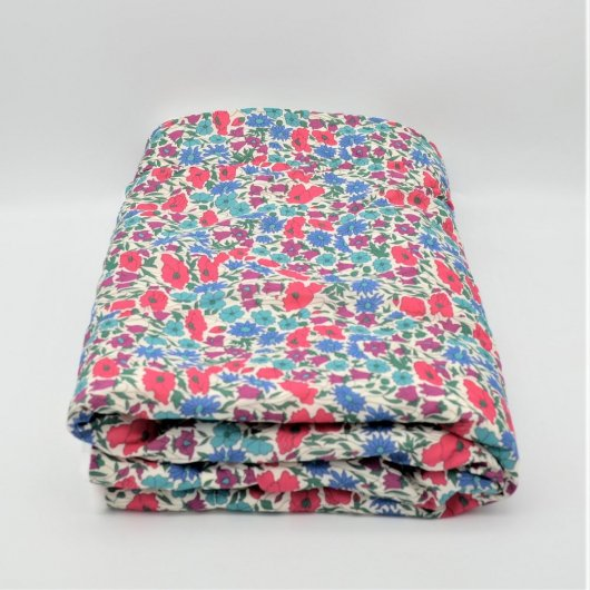 Couverture doudou Liberty Poppy and daisy canard