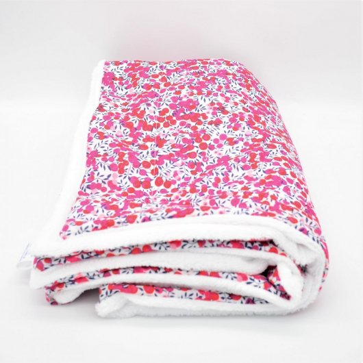 Couverture doudou Liberty Wiltshire rouge