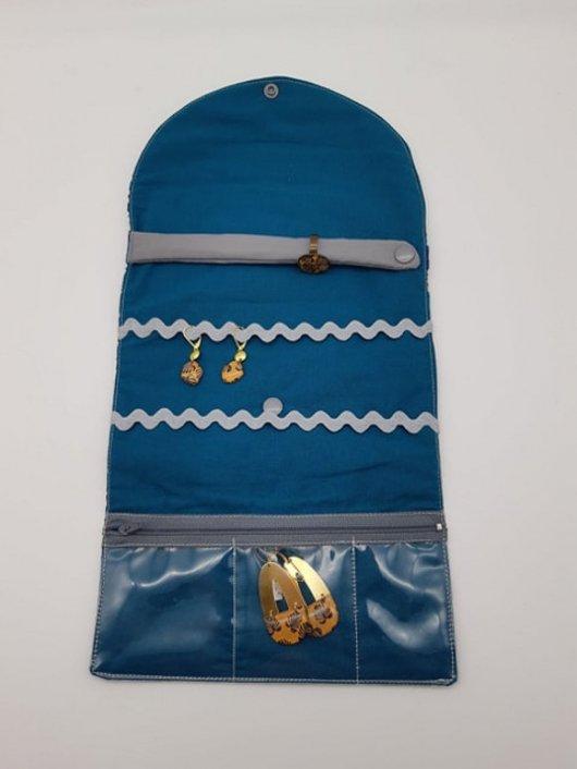 Trousse nomade rangement pour bijoux Liberty Mitsi Blue Deep