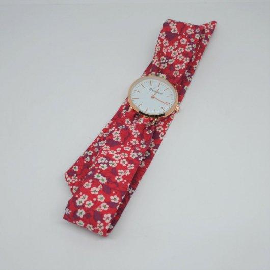 Montre à nouer bracelet Liberty Mitsi Valeria rouge