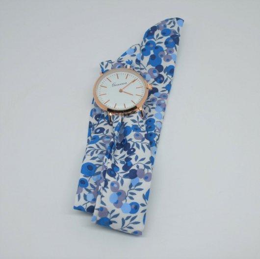 Montre à nouer bracelet Liberty Wiltshire bleu