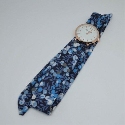 Montre à nouer bracelet Liberty Wiltshire bleu nuit