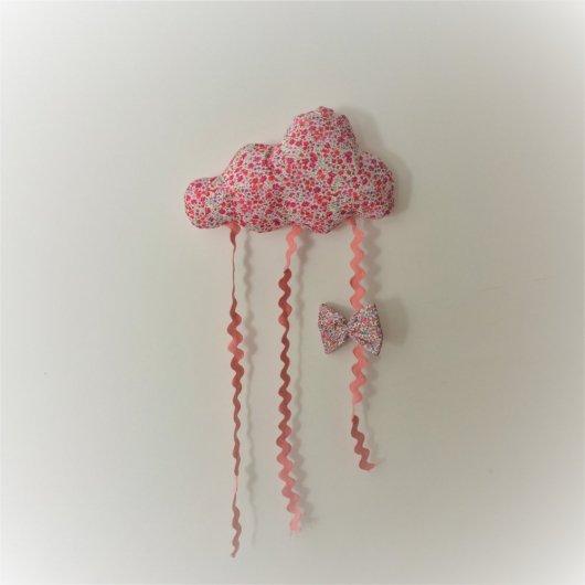 Nuage décoration/accroche barrette Liberty Phoebe rose