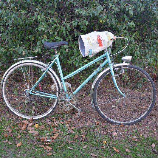 Protege mains guidon vélo impermeable enduit combi et doublé polaire grise