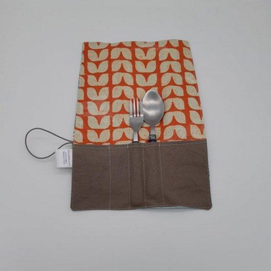 Trousse imperméable pour transporter les couverts mappemonde/vintage