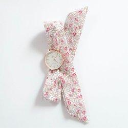 Montre à nouer bracelet Liberty Eloise rose