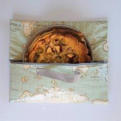 Sac à tarte isotherme et zip mappemonde