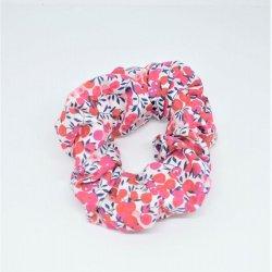 Chouchou cheveux scrunchie liberty Wiltshire rouge