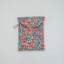 Etui liseuse/livre Liberty Poppy and daisy canard