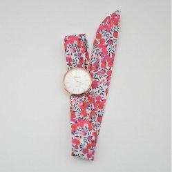 Montre à nouer bracelet Liberty Wiltshire rouge