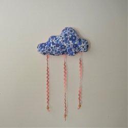 Nuage décoration/accroche barrette Liberty Betsy lavande