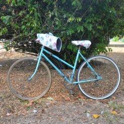 Protege mains guidon vélo impermeable et doublé polaire enduit chouettes et polaire grise