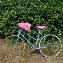 Protege mains guidon vélo impermeable enduit ananas et doublé polaire grise